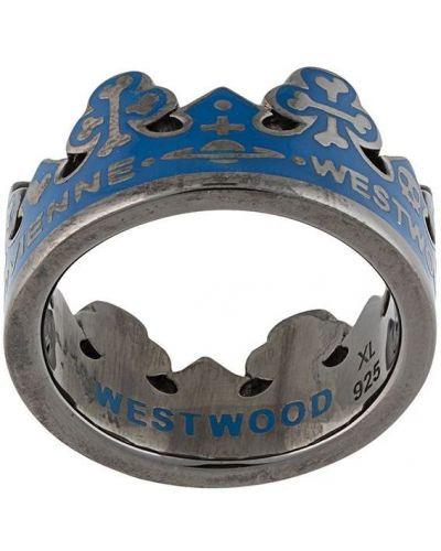 Czarny pierścionek Vivienne Westwood