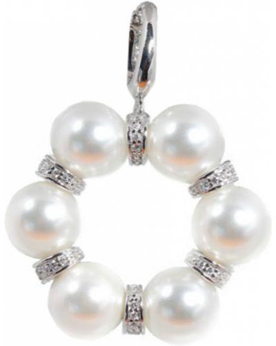 Золотая подвеска серебряный белая Jewelry Box