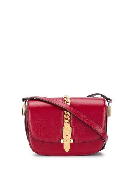 Z paskiem torebka na łańcuszku z prawdziwej skóry z łatami Gucci