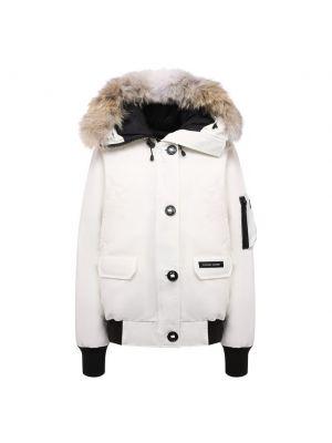 Белая куртка из полиэстера Canada Goose