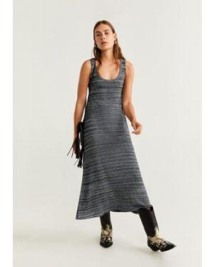 Платье миди на бретелях из вискозы Mango