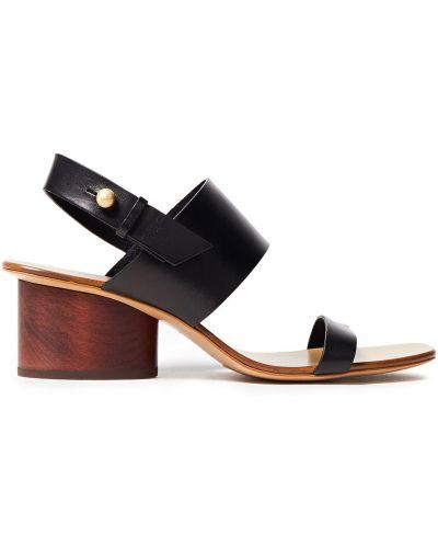 Czarne sandały skorzane miejskie Rag & Bone