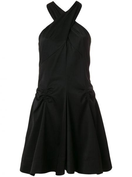 Платье со складками черное Carven