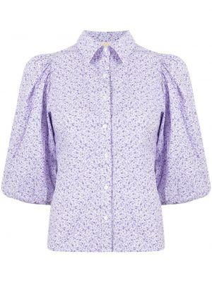 Fioletowa koszula bawełniana w kwiaty Bytimo