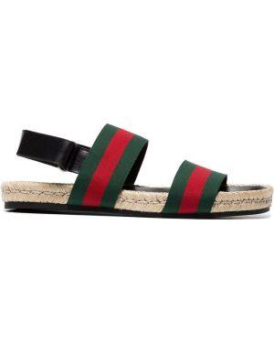 Sandały zielony otwarty Gucci