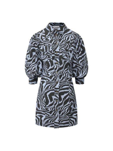 Платье сафари из поплина Ganni