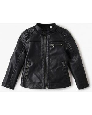 Куртка черная кожаная Blukids