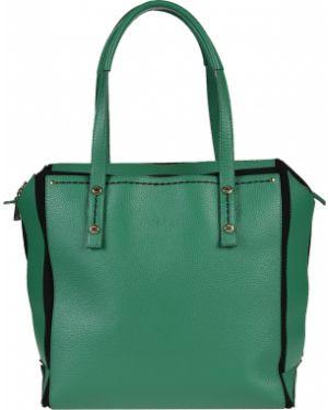 Кожаная сумка - зеленая Plinio Visona'