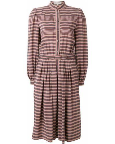Платье миди в полоску шелковое Ted Lapidus Vintage