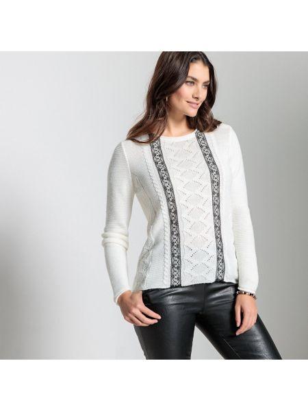 Пуловер в полоску акриловый Anne Weyburn