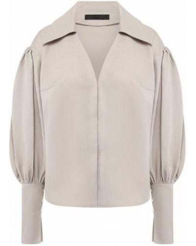 Блузка шелковая с драпировкой Tegin