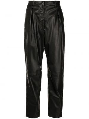 Czarne spodnie skorzane Altuzarra