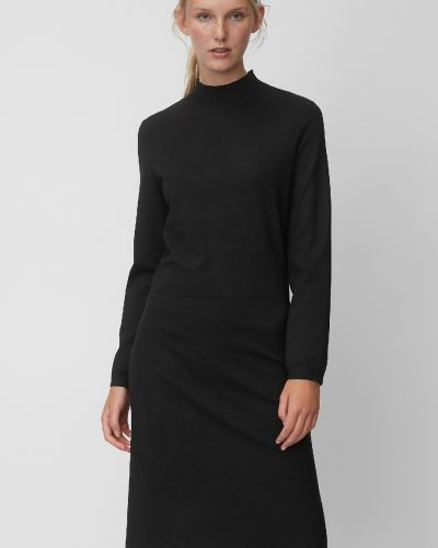 С рукавами трикотажное черное платье Marc O`polo