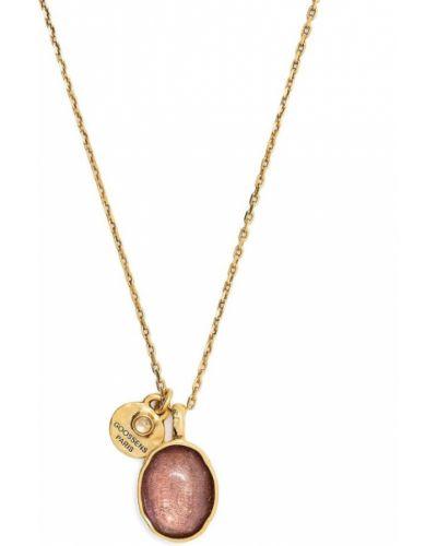 Złoty naszyjnik łańcuch - fioletowy Goossens