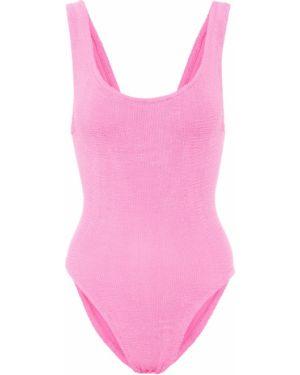 Нейлоновый розовый купальник для бассейна Hunza G