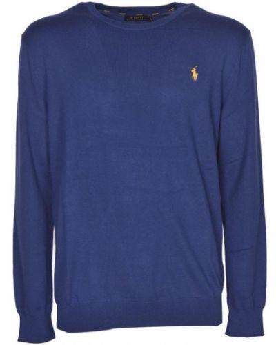 Niebieski sweter bawełniany Polo Ralph Lauren