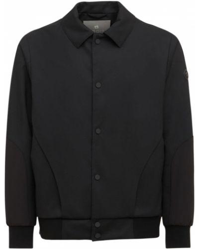 Czarna koszula wełniana Lardini
