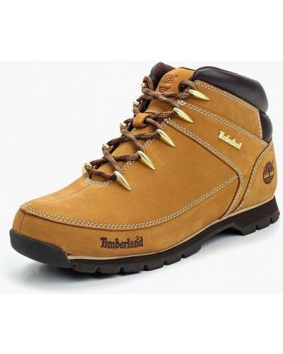 Треккинговые ботинки осенние из нубука Timberland