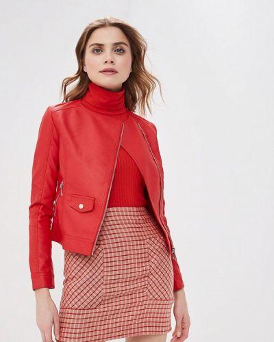 Кожаная куртка весенняя красный Z-design