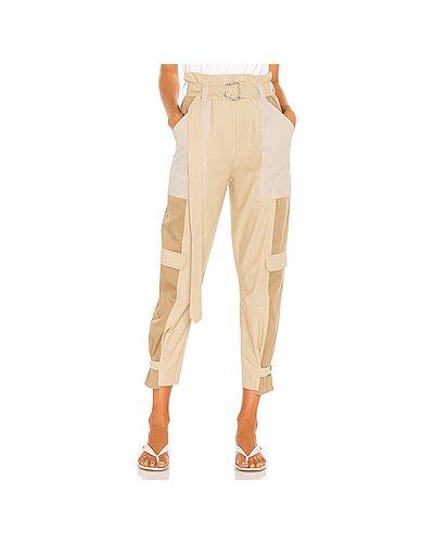 Хлопковые брюки карго с карманами на крючках Frame