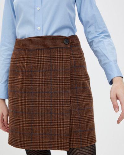 Коричневая юбка свободного кроя Paul & Joe