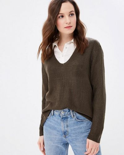 Пуловер зеленый хаки Fresh Brand