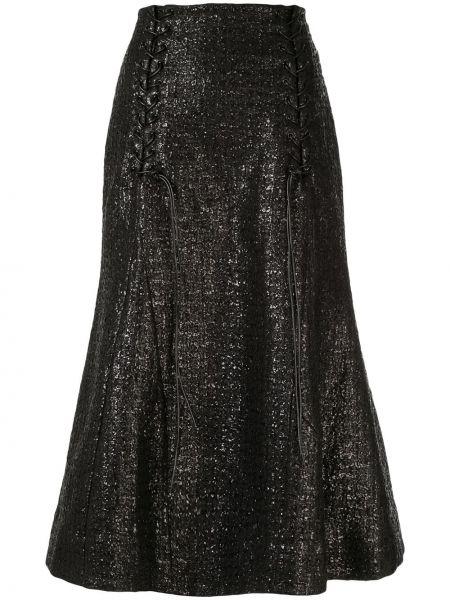 Черная юбка из вискозы Olivier Theyskens