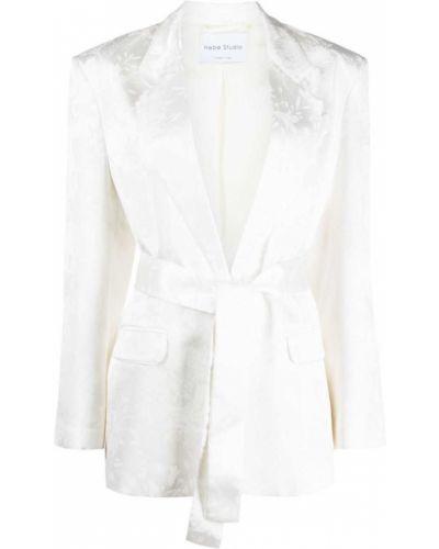 Белый пиджак с карманами на пуговицах Hebe Studio