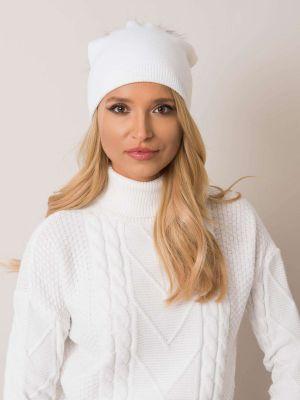 Biały kapelusz wełniany Fashionhunters