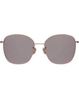 Złote żółte okulary Illesteva