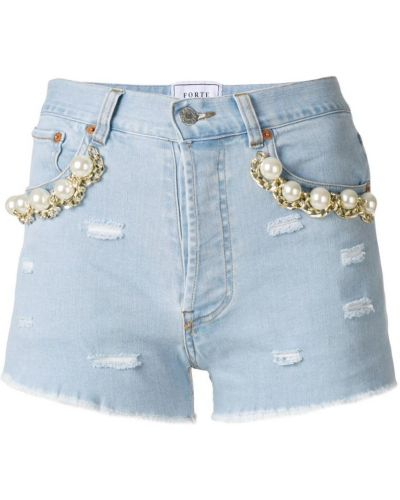 Джинсовые шорты синий Forte Couture