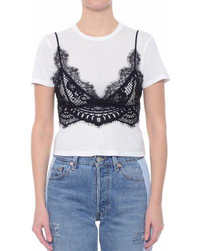 Хлопковая футболка - белая Kendall + Kylie