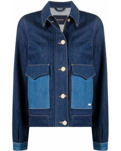 С рукавами ватная синяя джинсовая куртка Scotch & Soda