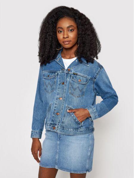 Kurtka jeansowa vintage - granatowa Wrangler