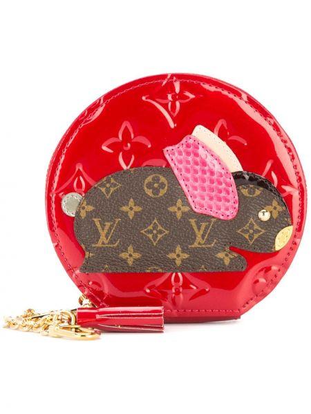 Красный кожаный футляр для очков на молнии Louis Vuitton