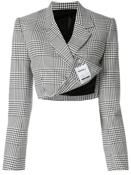 Черный приталенный короткая куртка двубортный Seen Users