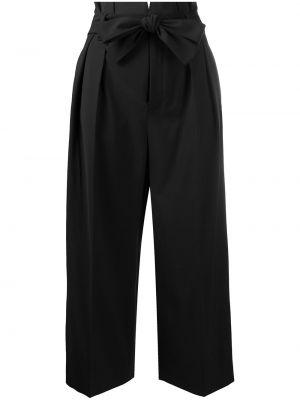 Czarne spodnie wełniane Redvalentino