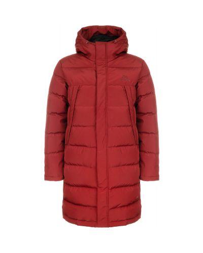 Утепленная пуховая красная длинная куртка Kappa