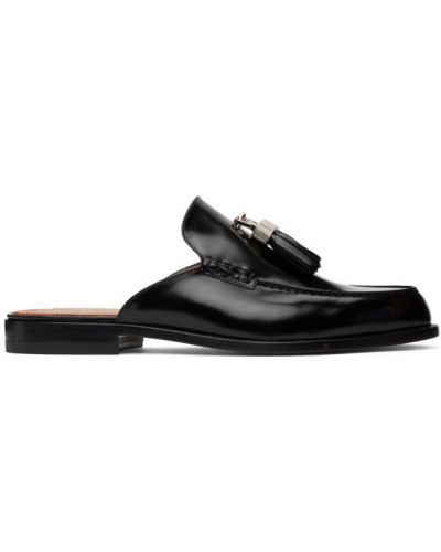 Черные кожаные лоферы с кисточками Christian Louboutin