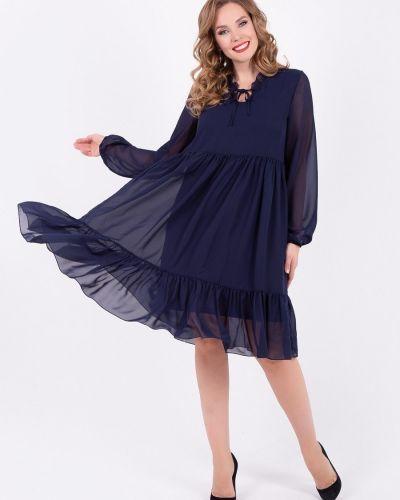 Нарядное с рукавами трикотажное платье макси Diolche