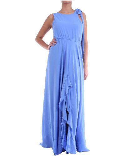 Niebieska sukienka długa Maesta