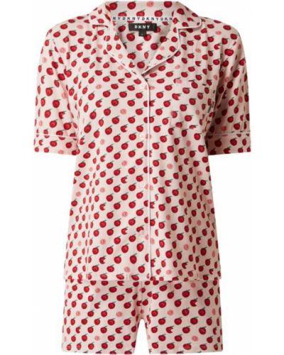 Różowa piżamy z szortami bawełniana krótki rękaw Dkny