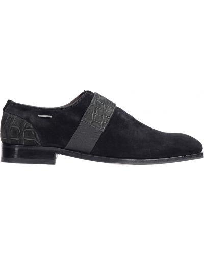 Туфли замшевые черные Zilli