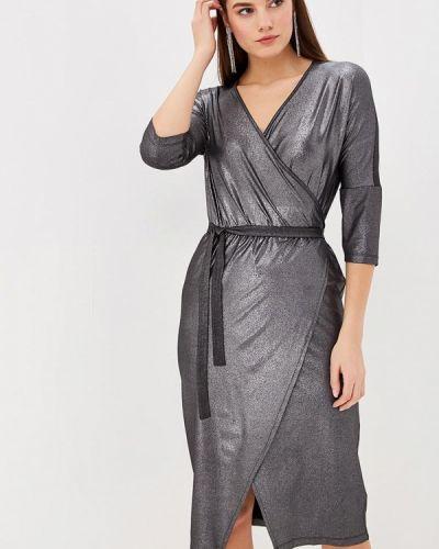 Вечернее платье осеннее серебряный Ribbon