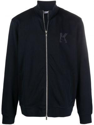 Длинная куртка - синяя Karl Lagerfeld