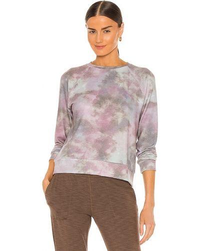 Текстильный коричневый пуловер с рукавом реглан Beyond Yoga