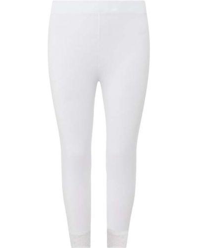 Białe legginsy bawełniane Only Carmakoma