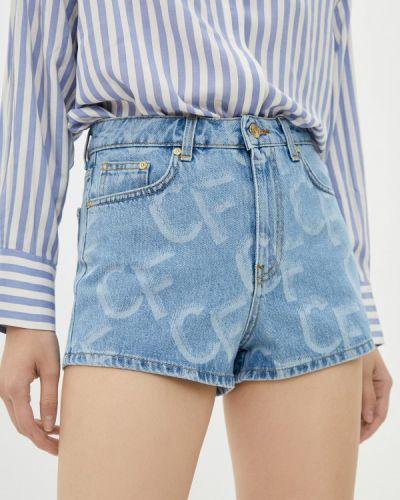 Джинсовые шорты - голубые Chiara Ferragni Collection