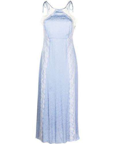 Прямое синее платье без рукавов Alice Mccall