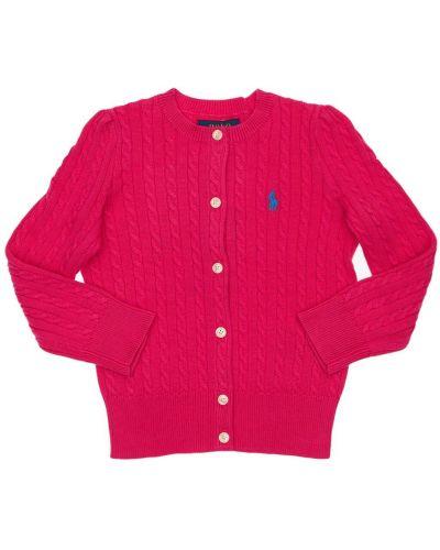 Bawełna bawełna różowy kardigan Ralph Lauren
